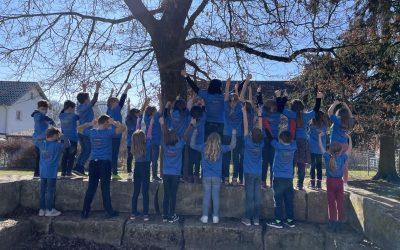 T-Shirts für alle Schüler der Grundschule Dietingen mit Außenstelle Irslingen und Böhringen